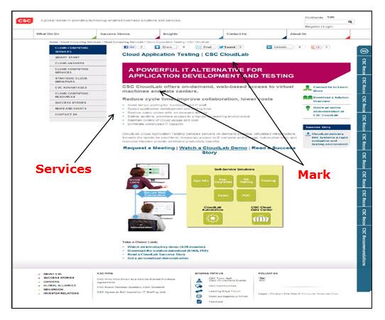 CSC Cloudlab网页广告计算机服务的屏幕截图。