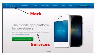 广告计算机服务的Parse网页的屏幕截图。