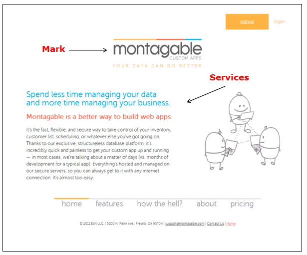 Montagable网页广告计算机服务的屏幕截图。