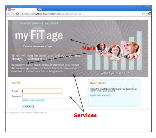 Myfitage网页的屏幕快照,显示登录屏幕,其中包含用于登录和访问计算机软件服务的填写字段。