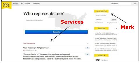 GovHub网页的屏幕快照,显示用于登录和访问在线论坛服务的登录字段。