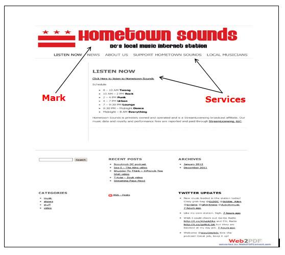 Hometown Sounds网页的屏幕快照,显示音乐节目的时间表和流音乐的链接。