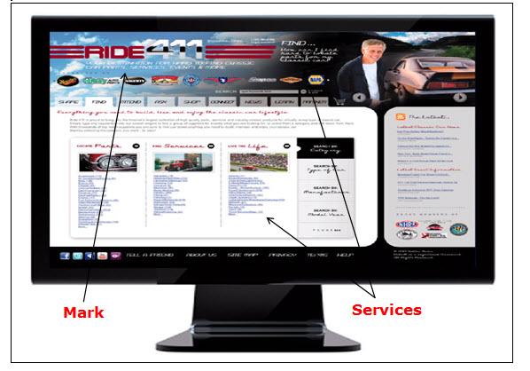 Ride411网页的屏幕快照,显示用于获取有关汽车零件和汽车服务提供商的信息的搜索选项。